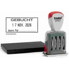 Trodat Classic Datumstempel + Text 2910/P03/GEBUCHT