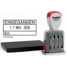 Trodat Classic Datumstempel + Text 2910/P03/EINGEGANGEN/Erl.