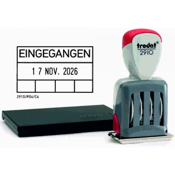 Trodat Classic Datumstempel + Text 2910/P04/EINGEGANGEN