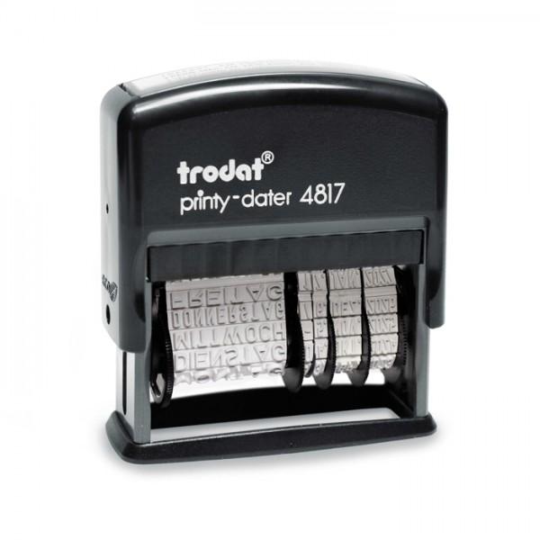 Trodat Printy Datumstempel mit Wortband 4817/B